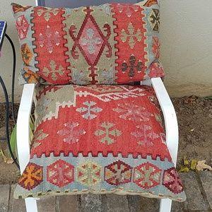 2 Pottery Barn kilim pillows